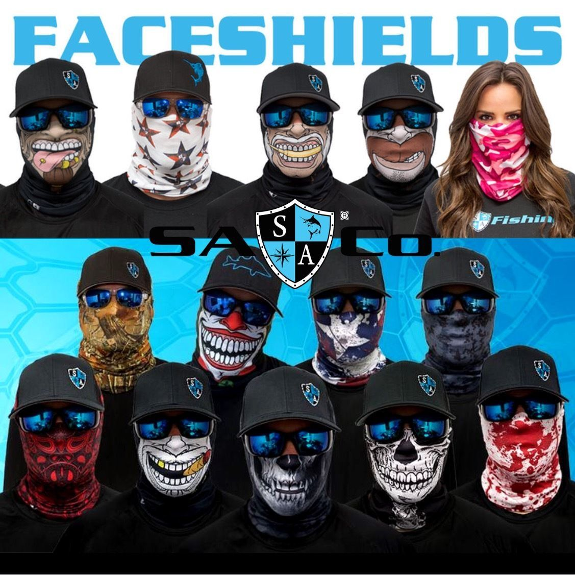 Sa Style /& Protection Multi-Use Face Shields