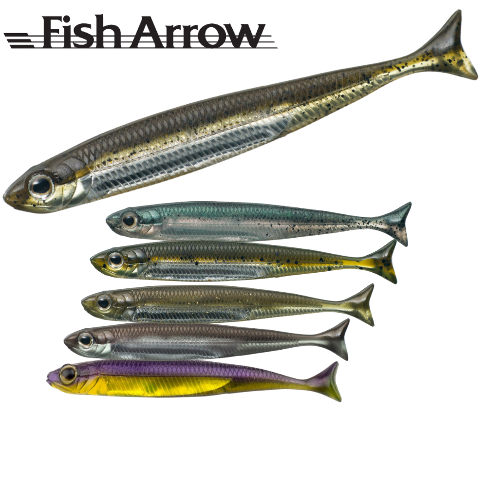 "FISH ARROW Finesse Soft Bait Lure FLASH-J SHAD 4"""